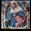 Madonna and Child with Angels (c. 1465)<br /> <br /> Polychrome terracotta<br /> <br /> Agostino di Duccio <br /> <br /> From the Medicean Villa of Castello<br /> <br /> Uffizi Gallery<br /> <br /> Florence, Italy