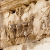 Menorah<br /> <br /> Arch of Titus,Roman Forum<br /> <br /> Depiction of part of the spoils from the Temple of  Jerusalem after the conquest of Jerusalem in 70 AD by Titus and his father Vespasian<br /> <br /> Rome, Italy