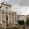 The Temple of Antonius and Faustina was started in the Roman Forum around 141 AD.  Its relatively good state of presevation is probably due to its being converted into a Roman Catholic church.