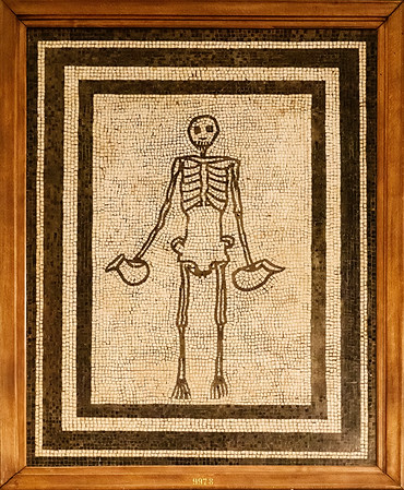 Pompeii mosaic<br /> <br /> Archaeological Museum of Naples<br /> <br /> Naples, Italy