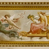 Ceiling art in the Borghese Museum's Pinacotea.
