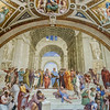 """The School of Athens was painted between 1509 and 1511.  It is located in one of four """"Raphael Rooms"""" in the Vatican Museum.  Our trip to Italy had many highlights for a St. Johns College alumnus, but this was perhaps the greatest."""