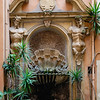 Fountain ornamentation in a courtyard near our Air B&B in the Monti District of Rome.