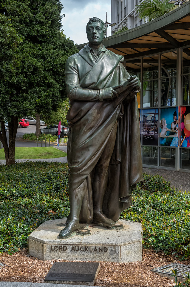 """2018-03-11 Aotea Square, Auckland New Zealand. Coords: 36°51'9"""" S 174°45'44"""" E. While Auckland is named for this individual, he never visited New Zealand. Lord Auckland was thrice First Lord of the Admiralty and also served as Governor-General of India between 1836 and 1842. Born 1784 and died 1849. Coords: 36°51'9"""" S 174°45'44"""" E"""