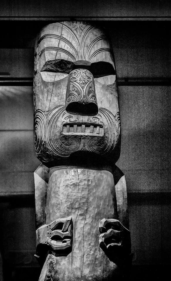 2018-03-12 Maori carving, found in Auckland's War Memorial Museum