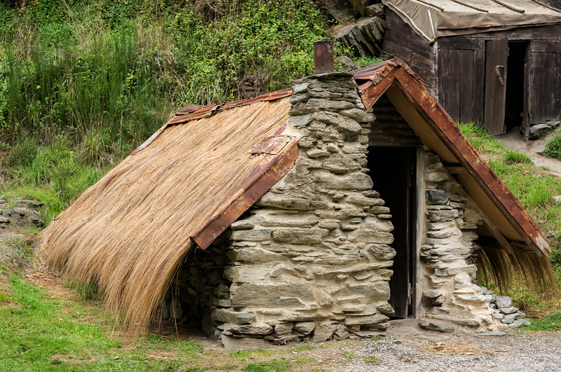 2018-03-21 Early residence of a Chinese worker in Arrowtown Chinese Settlement. NE of Queenstown, New Zealand.