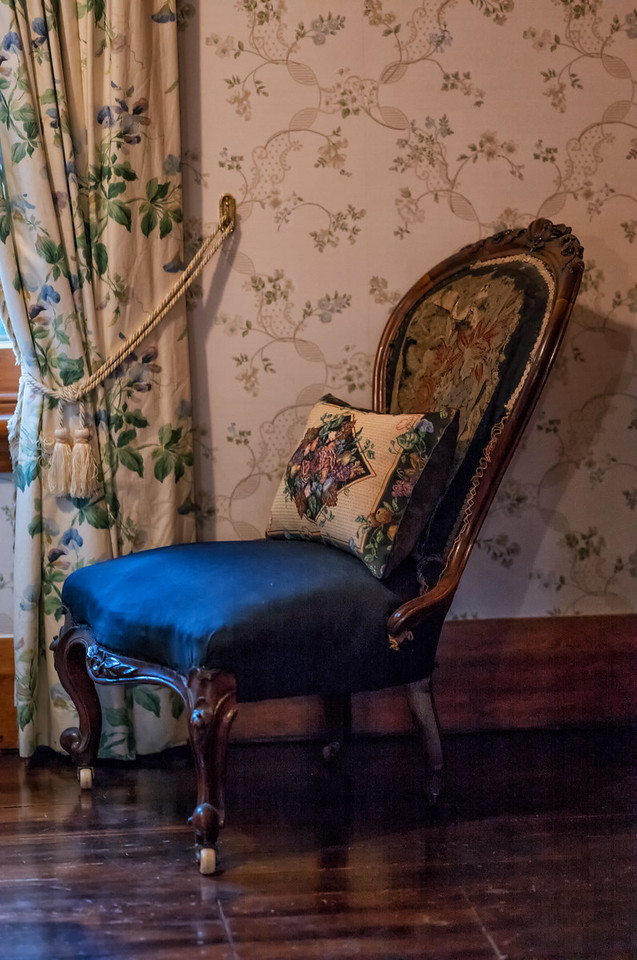 2018-03-16 Chair, Riccarton House, Christchurch, New Zealand. A significant early homestead.
