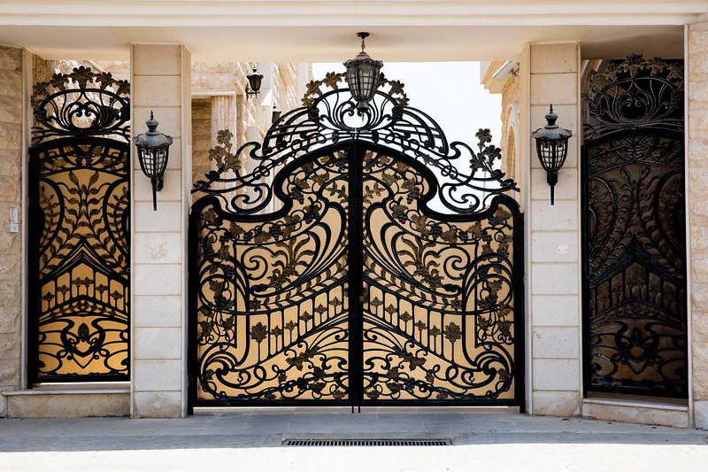 Katarský dům zdobná brána