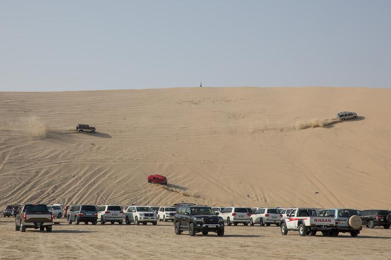 Katar bugginy v poušti