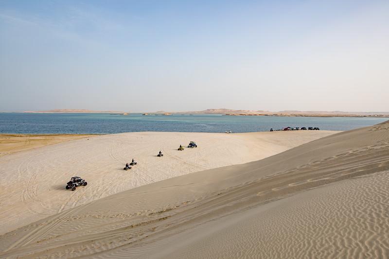 Katar poušť moře