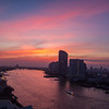 Sunset in Bangkok, view from our hotel room