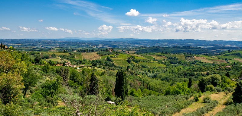 The Tuscan countryside.