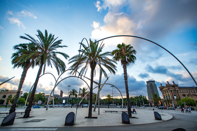 The Onades (waves) sculpture in Barcelona, Spain.