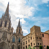 Cathedral of the Holy Cross and Saint Eulalia, also known as Barcelona Cathedral.