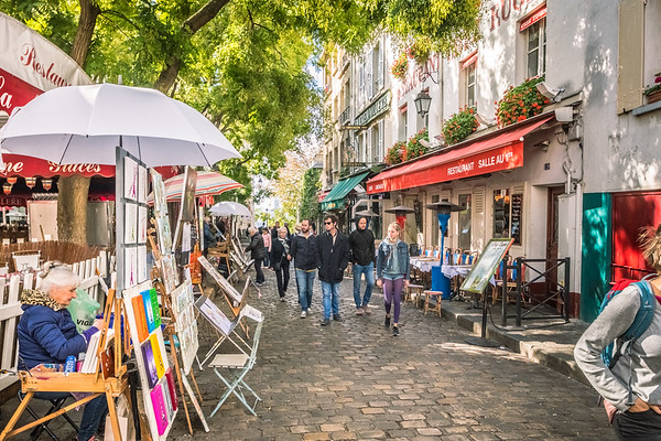 Montmartre is a fun village to walk around in