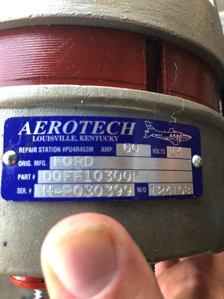 2018-08 Airplane Alternator