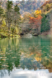 Mirror lake near Blanchard Springs