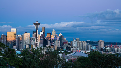 Seattle skyline after sunset