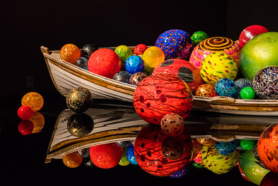 Boat full of glass balls, Chihuly Glass Museum