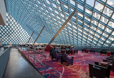 10th floor reading area, Seattle Central Library