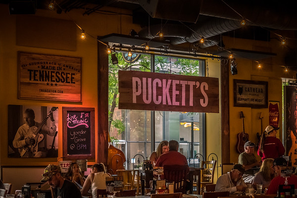 Puckett's for lunch, recommended by Sherri and Matt