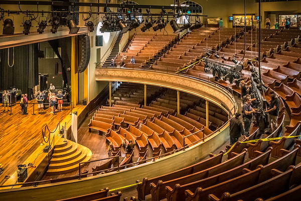 A wonderful guided backstage tour of the Ryman Auditorium.