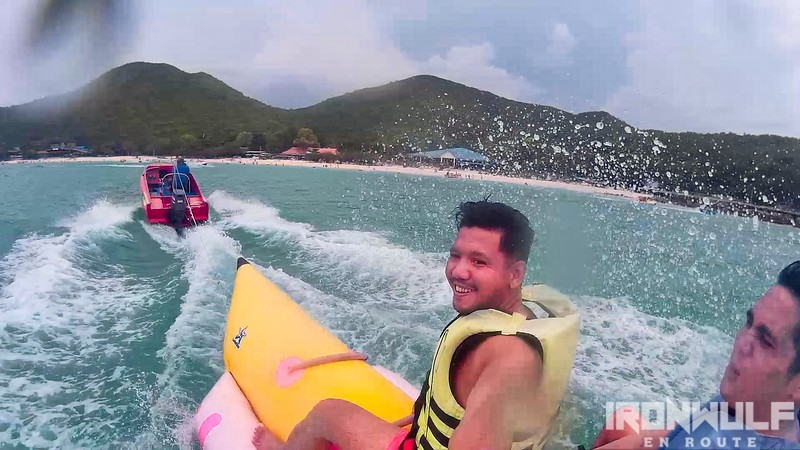 Banana boat ride at Koh Larn