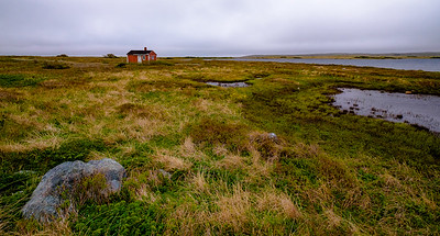 Decaying but not abandoned duck hunting cabin on the road to Portgula Cove (South)