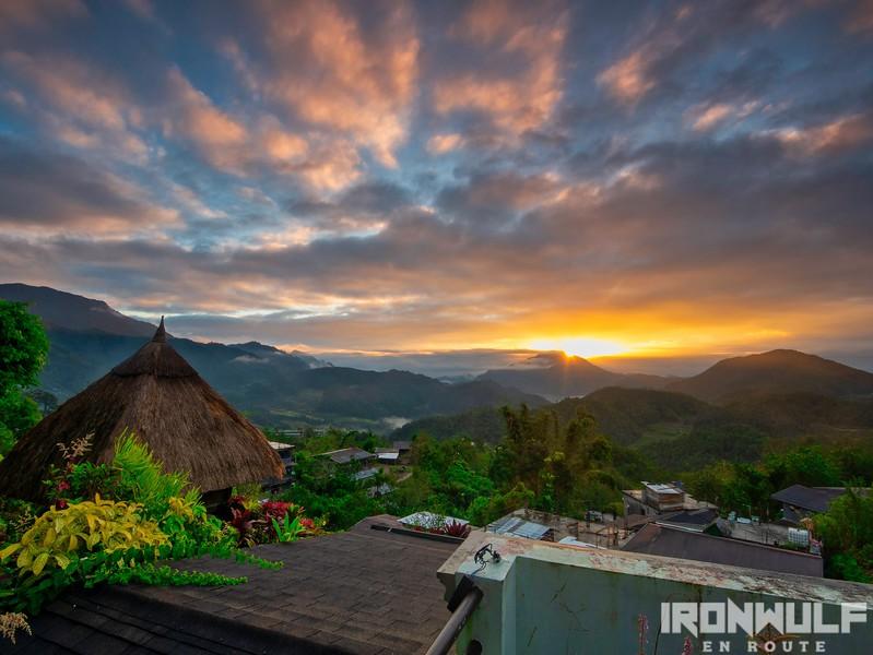 Sunrise view at Banaue Heritage Inn