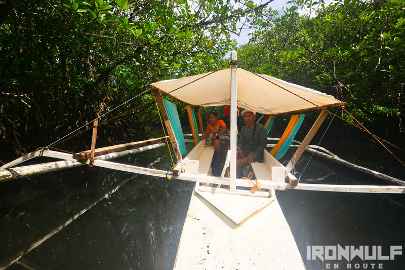 Our boat as we explore the mangrove forest