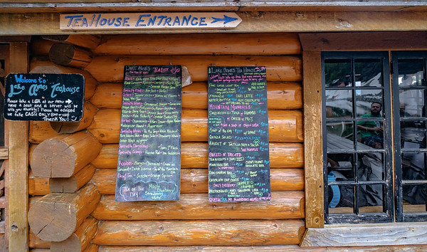 Quite a selection of teas and snacks at the Lake Agnes tea house.