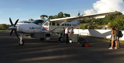 Preparing to board the Sansa flight to San Jose.