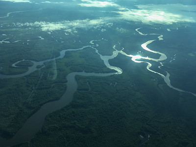 Rio Sierpe from the air.