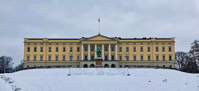 Norwegian Royal Palace, Oslo Norway (Feb 2018)