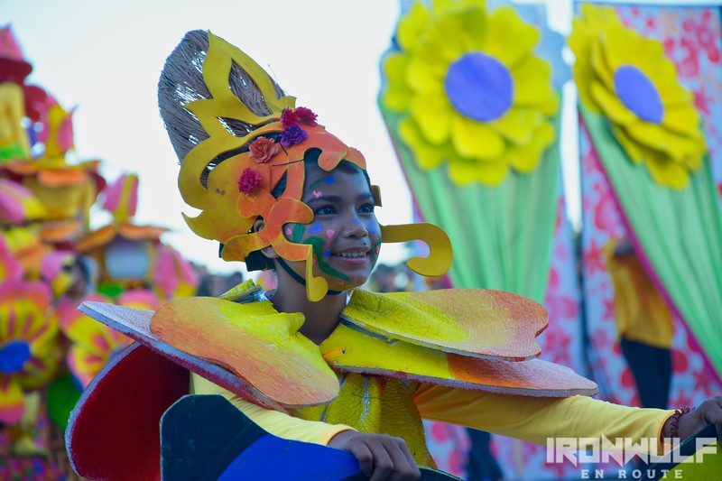 Colorful costume from Virac's Burac festival