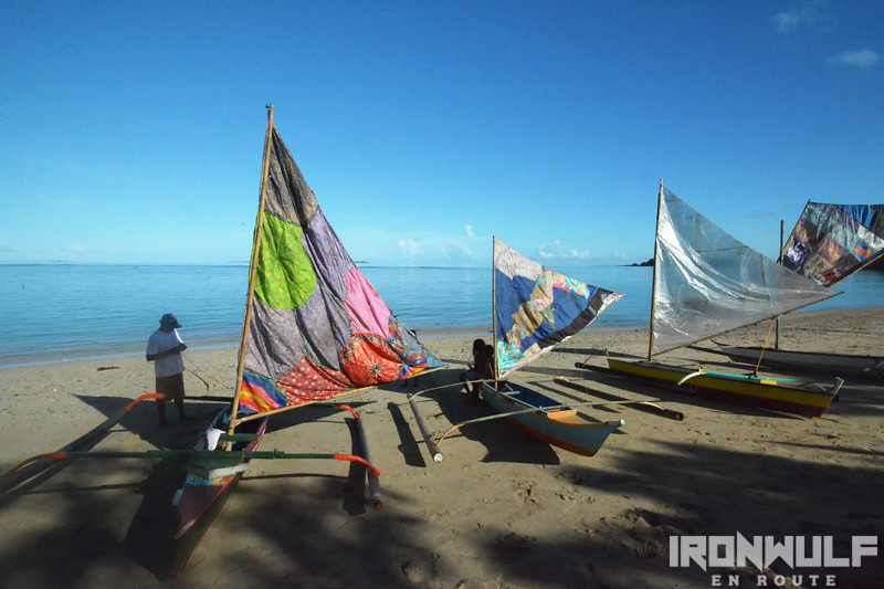 Palumbanes with their colorful paraws, sails made from scrap fabrics
