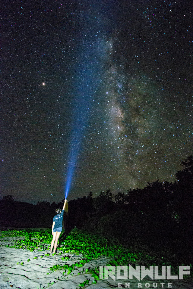 Milky way spotting at night