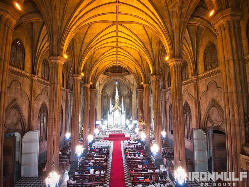Inside San Sebastian Basilica
