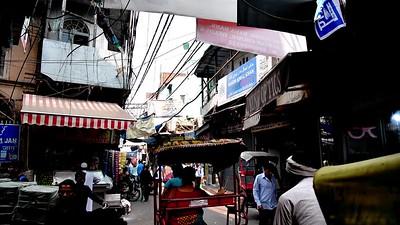 Bustling streets of Old Delhi.