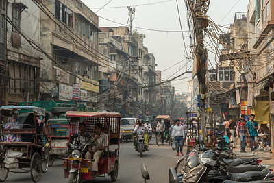 The nutty wiring schemes of Old Delhi.