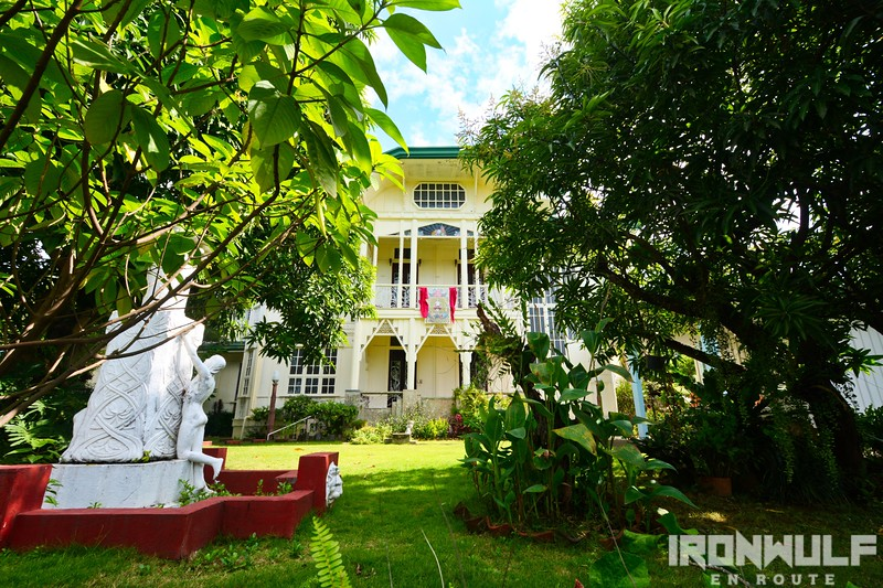 The Dr Luis Santos House with a sculpture by National Artist Guillermo Tolentino