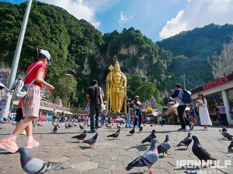 Tourist flock Batu Caves