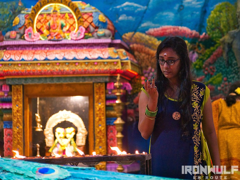 A devotee at one of the temples