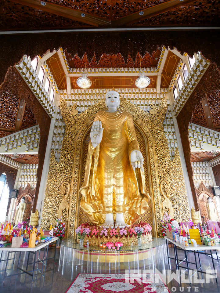 Buddha statue at the main shrine of the Burmese temple