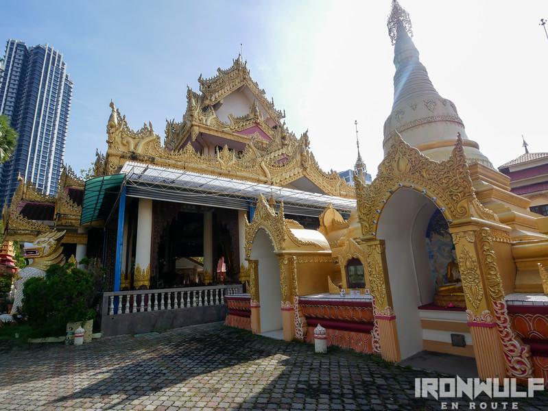 Dhammikarama Burmese Temple stupa and shrine