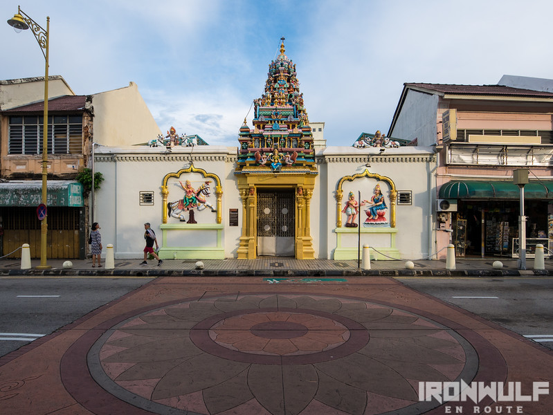 The back entrance of Sri Mahamariamman Templ