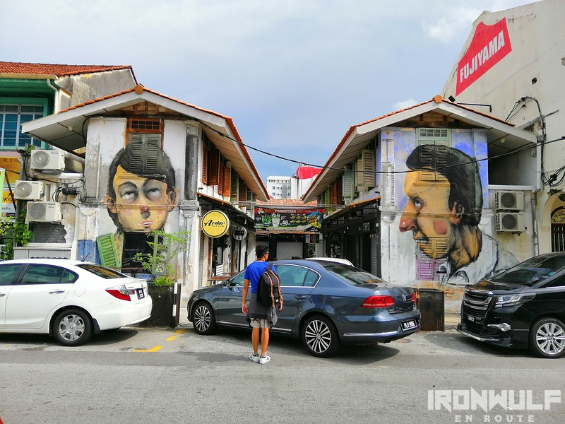 Nagore Square mural heads