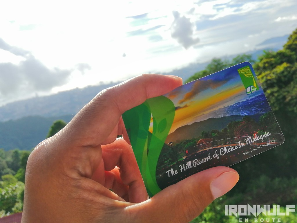 Penang Hill Railway train card