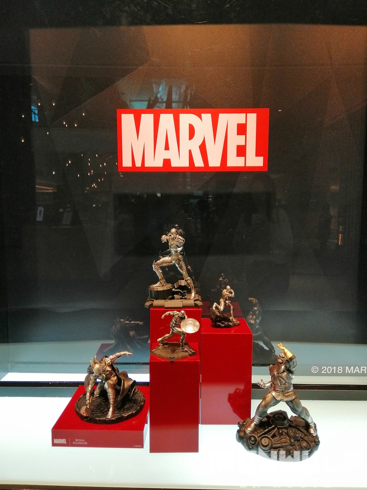 Marvel figures made from pewter