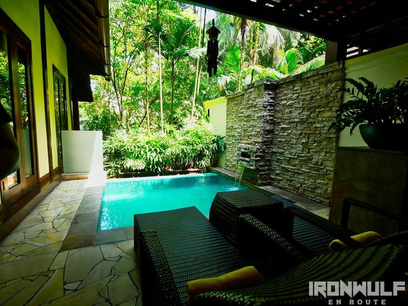 Pool on each villa